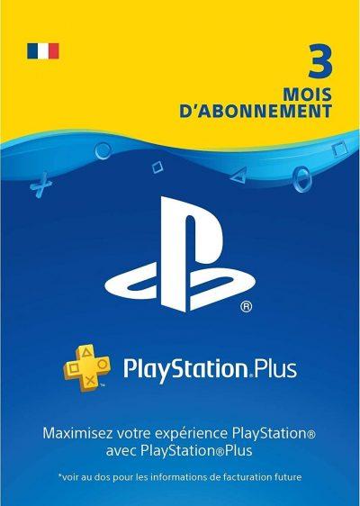 Carte PlayStation Plus, Carte d'abonnement de 3 mois, Code jeu à télécharger, Compte français