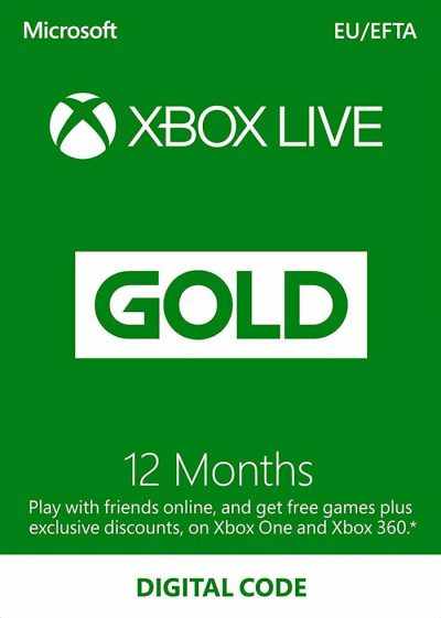 xbox live gold 12 mois