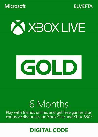 xbox live gold 6 mois
