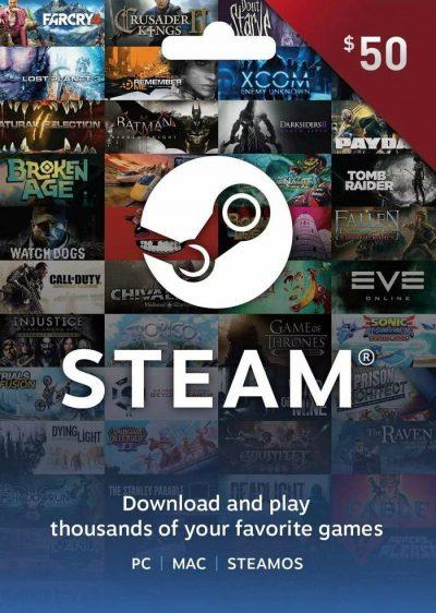 carte steam 50$ maroc