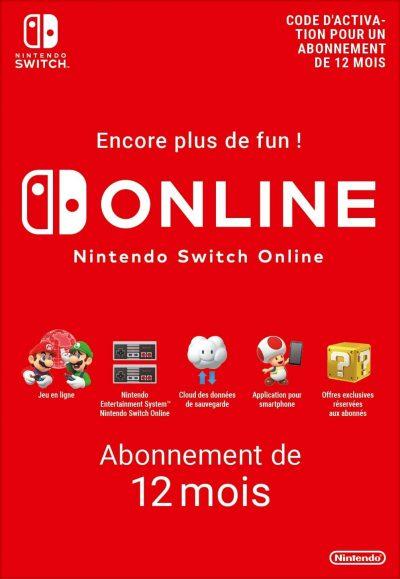 Nintendo Switch Online 12 Mois