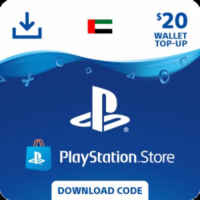 carte psn 20$ United Arab Emirates