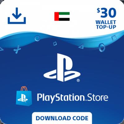 carte psn 30$ United Arab Emirates