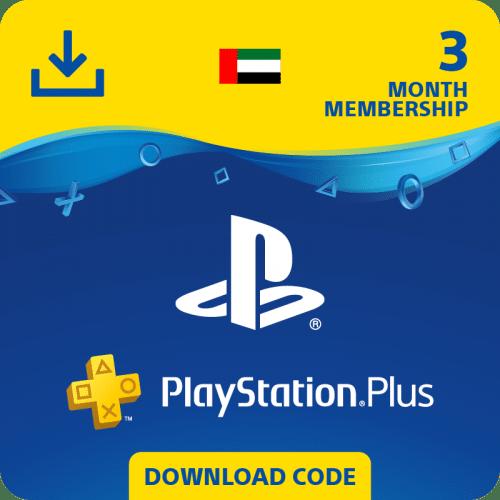 Carte PS Plus 3 Mois United Arab Emirates